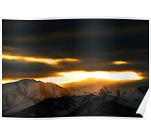 Sunset - Winter Warmth  Poster
