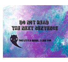 don't read! by lblnana