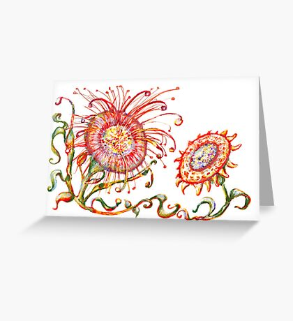 Pre columbian flowers Greeting Card