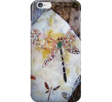 BEADED DRAGONFLY QUILT DETAIL iPhone Case/Skin