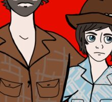 Disneyfied Rick and Carl Grimes Sticker