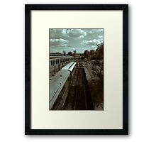 The Last Train To......... Framed Print