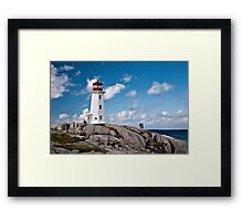 Peggy's Cove Light Framed Print