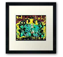 Cheese Attack Framed Print