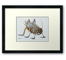 Metal Grasshopper Framed Print