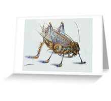 Metal Grasshopper Greeting Card