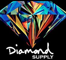 Diamond Supply Colourful Diamond by ikillwithnostyl