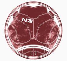 N7 Chestplate - Femshep T-Shirt