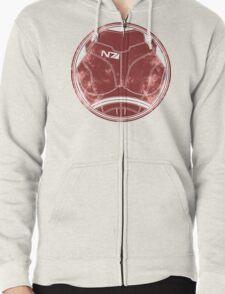 N7 Chestplate - Femshep Zipped Hoodie