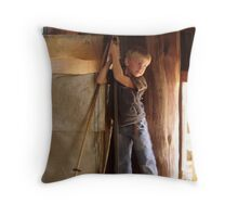 The shearer's son Throw Pillow