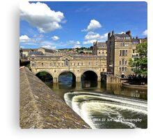 England - Covered Bridge in Bath Canvas Print