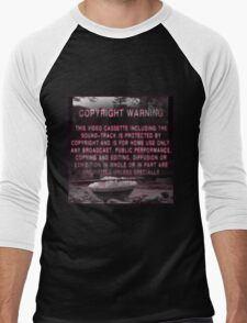 Copyright Warning Men's Baseball ¾ T-Shirt