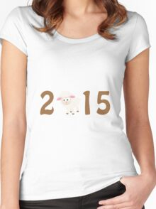 2015 - Cute sheep Women's Fitted Scoop T-Shirt