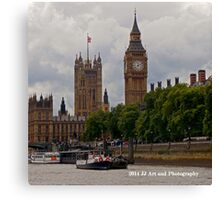 England - Big Ben from Thames Canvas Print