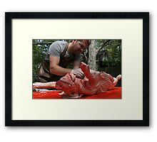 Is that a kidney or a testicle? Framed Print