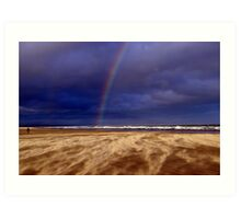 Rainbow in a Sandstorm, St Andrews II Art Print