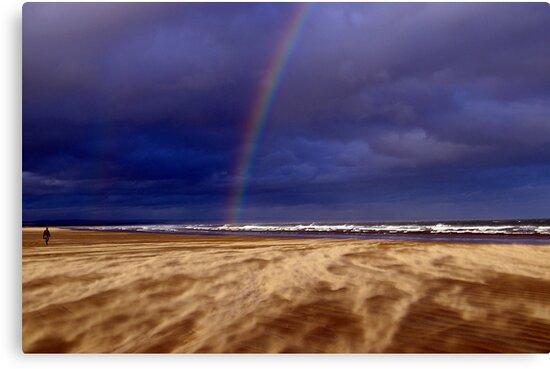 Rainbow in a Sandstorm, St Andrews II by Rebecca Silverman