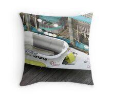 Bathtub Racer Throw Pillow