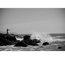 The Fisherman and His Conquest At Sea Photographic Print