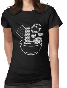 Ramen Line Drawings Womens Fitted T-Shirt