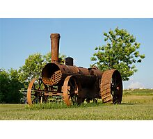 Antique Tractor - A Rusty Relic on a Farm Photographic Print