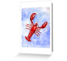 Lobster Watercolor Greeting Card