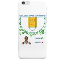 Stephen Curry Shot Chart Golden State Warriors iPhone Case/Skin