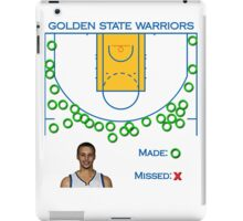 Stephen Curry Shot Chart Golden State Warriors iPad Case/Skin