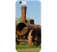 Antique Tractor - A Rusty Relic on a Farm iPhone Case/Skin