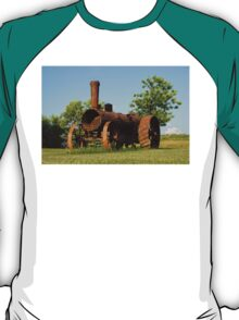 Antique Tractor - A Rusty Relic on a Farm T-Shirt