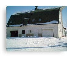 Barn at the farm in Iowa - Feb 2008 Canvas Print