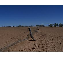 Boundary Fence, Far Western Queensland Photographic Print