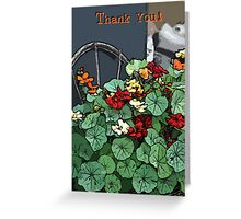 Nasturiums Thank You Card - Digital Art Greeting Card