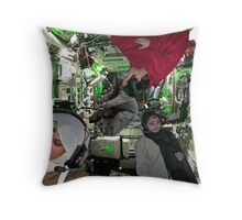 The P.S. Islamabad Battlestar Bedford One offers assistance Throw Pillow