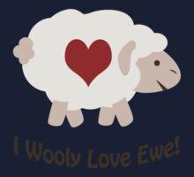 I Wooly Love Ewe! Kids Tee
