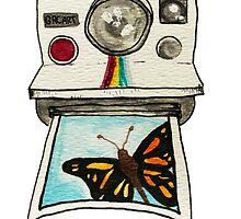 Watercolor Polaroid Camera by gilraae