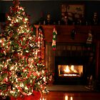 Christmas tree by the fire by Scott Englund