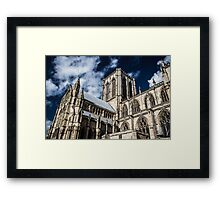 Looking Up at the York Minster Framed Print