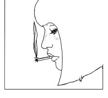 GIRL W/ CIGARETTE  by froots