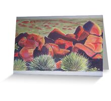 Rocks in Central Australia. Taken from a photograph in Australian Geographic Greeting Card