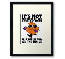 Dexter's beard Framed Print