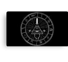 Gravity Falls Bill Cipher - White on Black Canvas Print