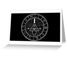 Gravity Falls Bill Cipher - White on Black Greeting Card