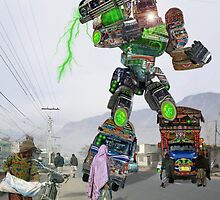 The Hajji Hussainbotix 12000 Extreme Bedford Powered Machine by Kenny Irwin