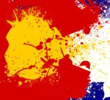 Colorado Flag Paint Splatter Sticker
