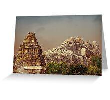 hampi gopuram Greeting Card