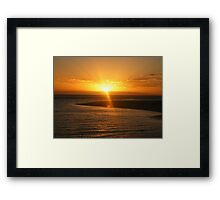 Monkey Mia Sunrise Framed Print