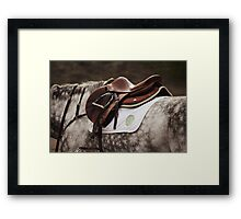Brown and Gray Framed Print