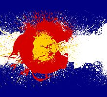 Colorado Flag Paint Splatter by rwilliams1026