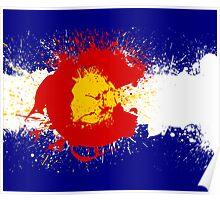 Colorado Flag Paint Splatter Poster